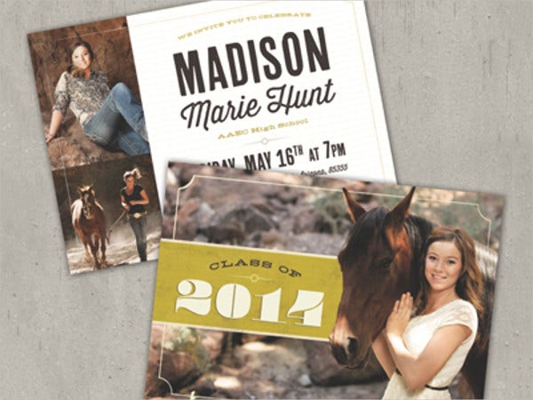 rustic graduation announcement invitation