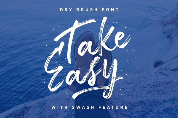 take-easy-brush-font