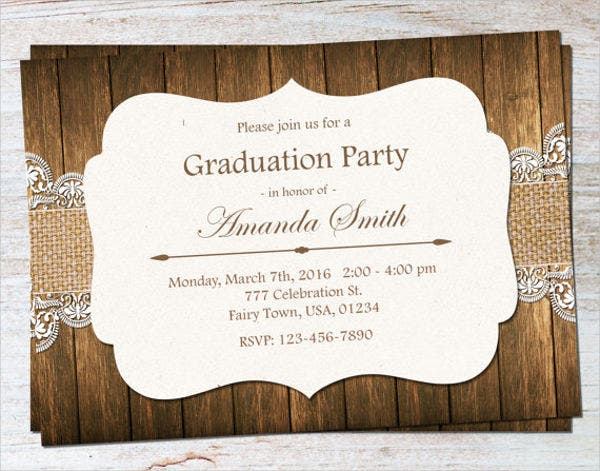rustic country graduation invitation