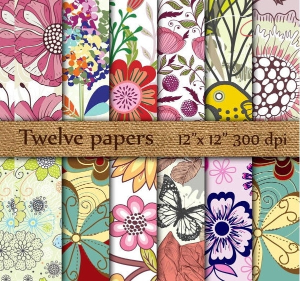 flora-paper-patterns