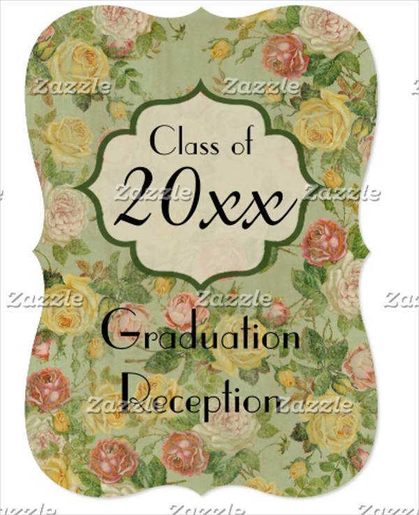 vintage graduation open house invitation