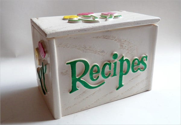 recipe box card