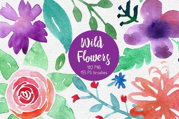 wild-flowers-photoshop-brushes
