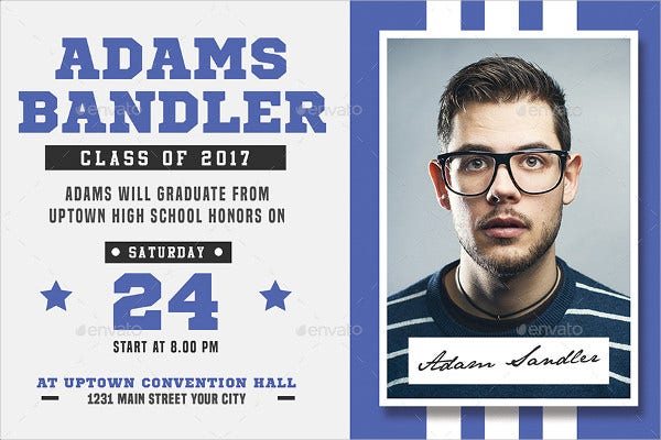 college sports graduation invitation
