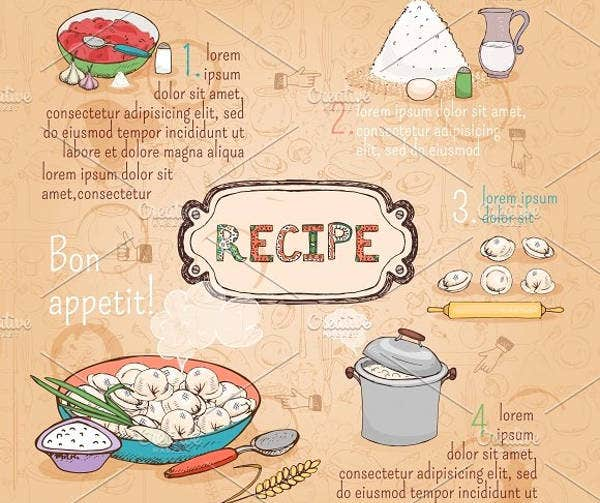restaurant recipe card