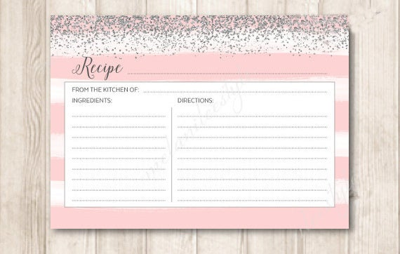 blank recipe card design