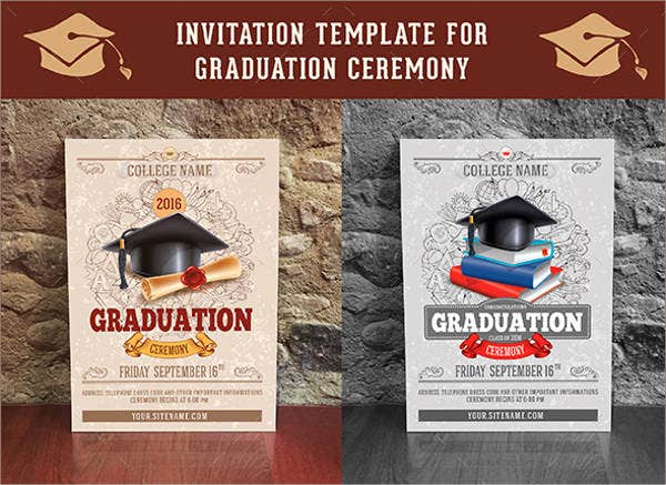 graduation diploma ceremony invitation1