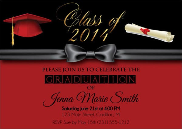 diy formal graduation invitation