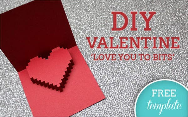 Free Pop Up Valentine's Card