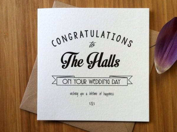 -Congratulations Wedding Card