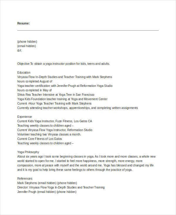 teacher resume examples 23 free word pdf documents download