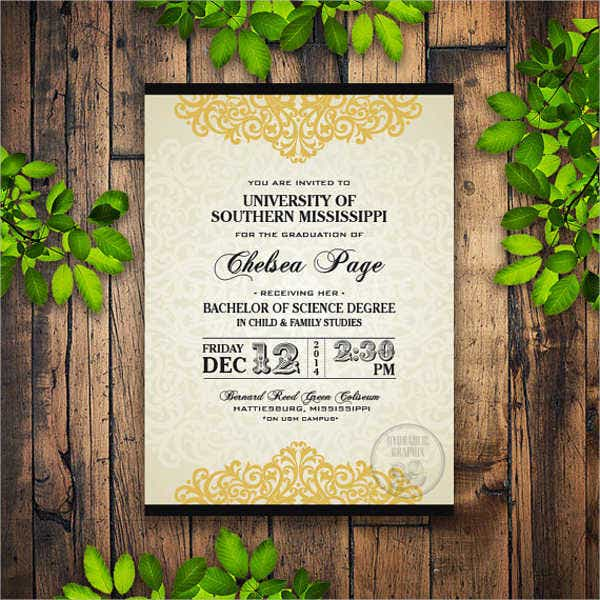 high school formal graduation invitation