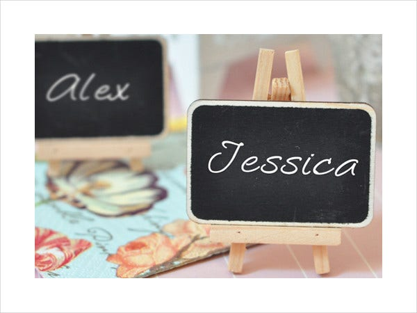 -Place Setting Card