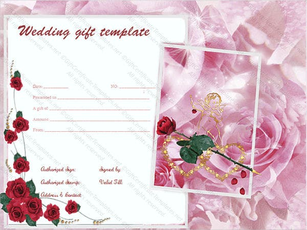 free wedding gift card template