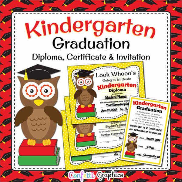 kindergarten graduation awards invitation