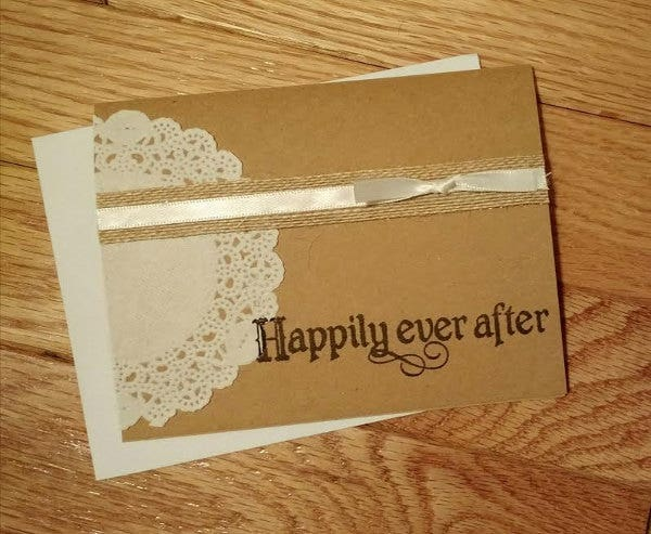 rustic wedding card