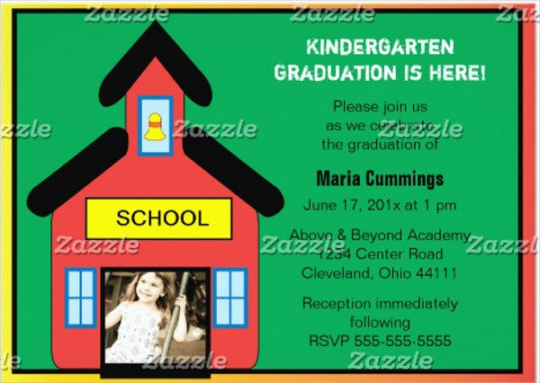 kindergarten class graduation invitation
