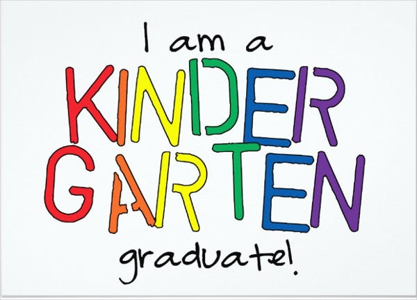 kindergarten homeschool graduation invitation
