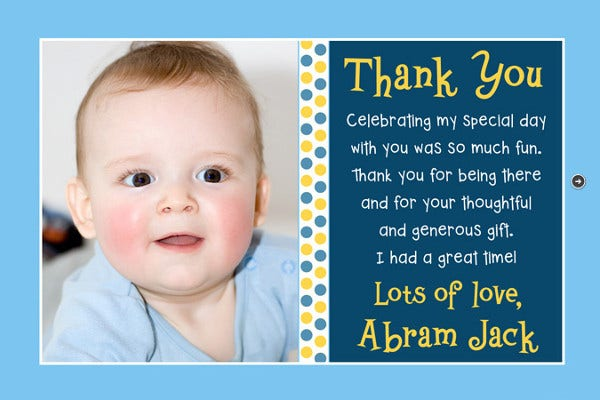 thank you baby card