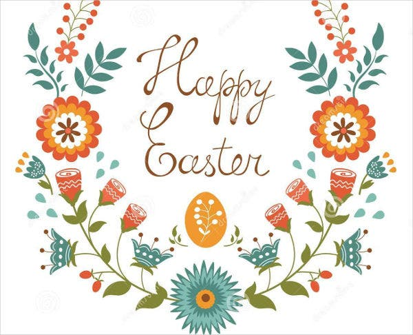 -Easter Flower Card