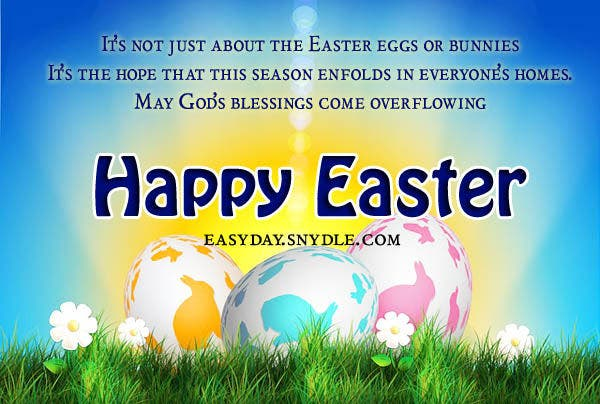 -Easter Message Card