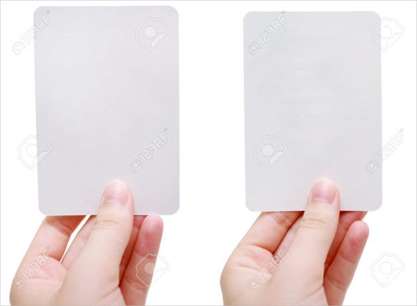 free blank flash card