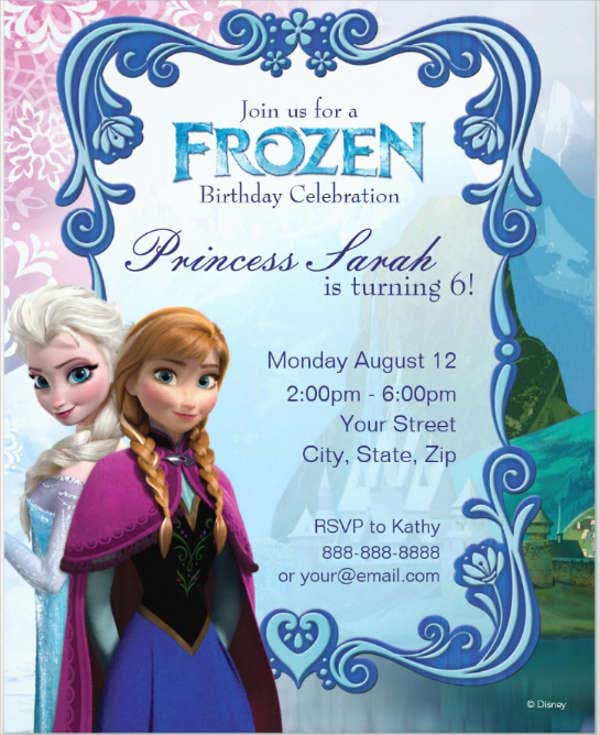 free frozen invitation card
