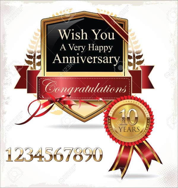 free wedding anniversary card