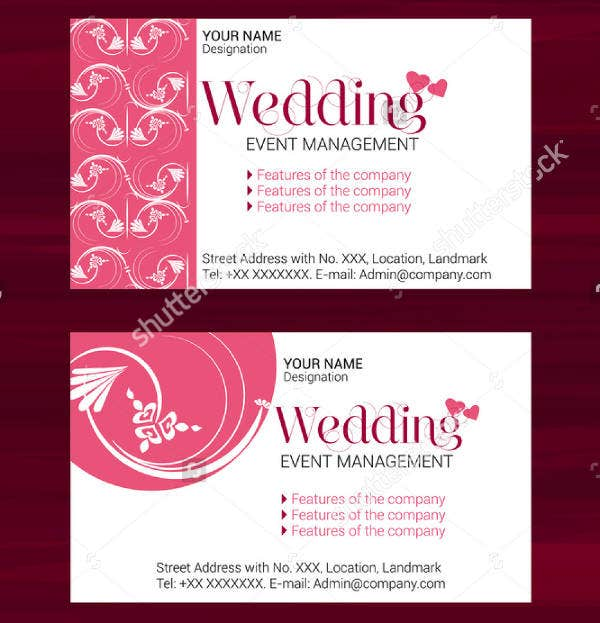 Event Visiting Card