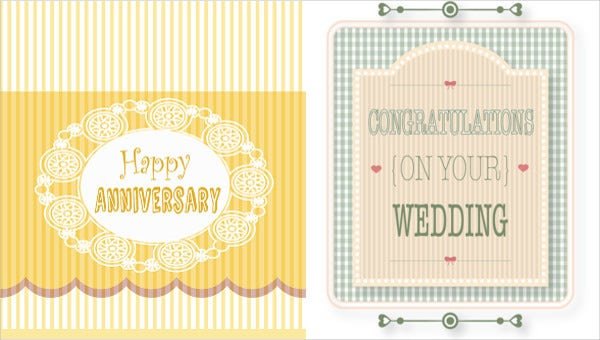 traditional wedding anniversary cards