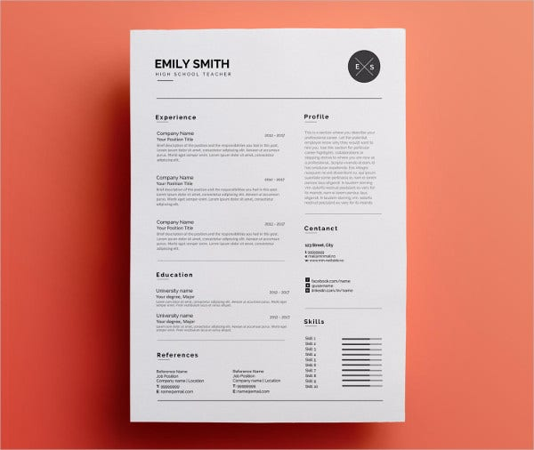 Modern Resume Format Modern Resume Builder Find The Red Template On