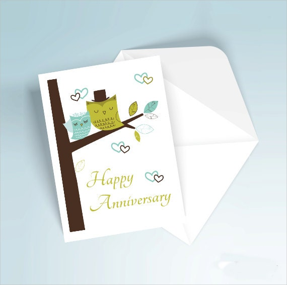 diy wedding anniversary card