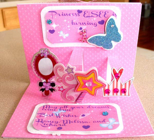 -Personalised Pop Up Card