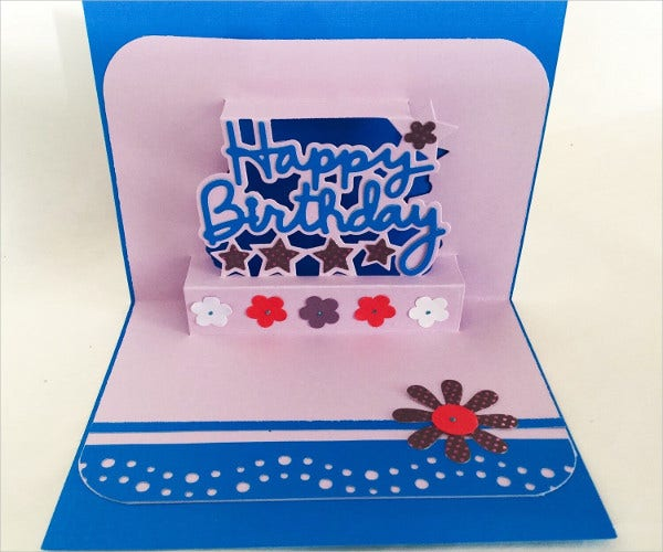 -Handmade Pop Up Card