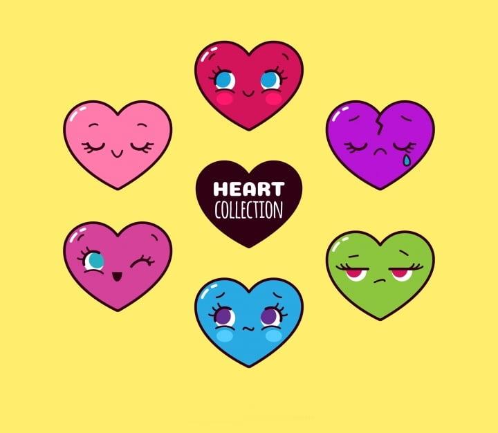 heart-character-vectors
