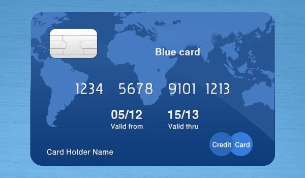 Printable Credit Card