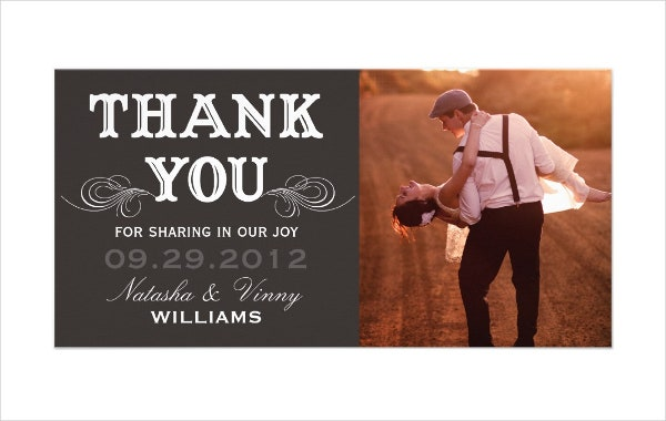 vintage thank you wedding cards