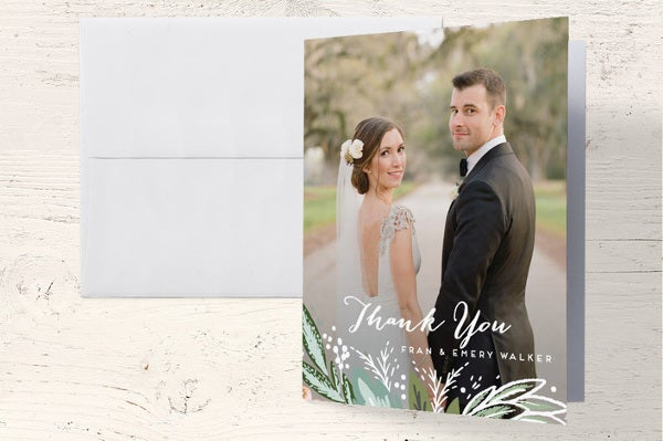 thank you wedding photo cards