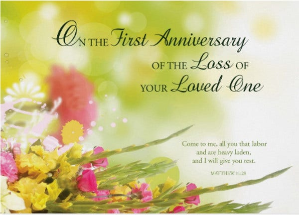 Death Anniversary Card
