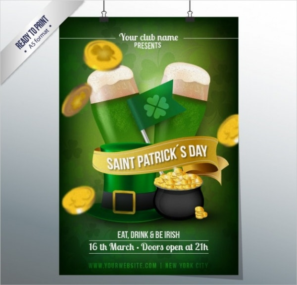 st-patricks-day-club-poster
