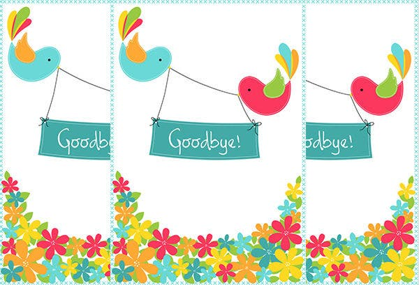 Good Bye Greeting Card