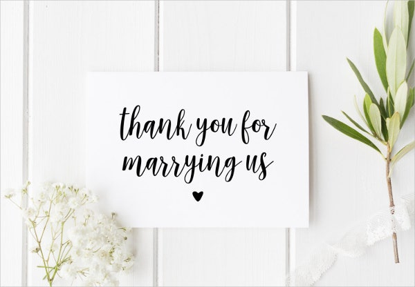 personal thank you wedding cards