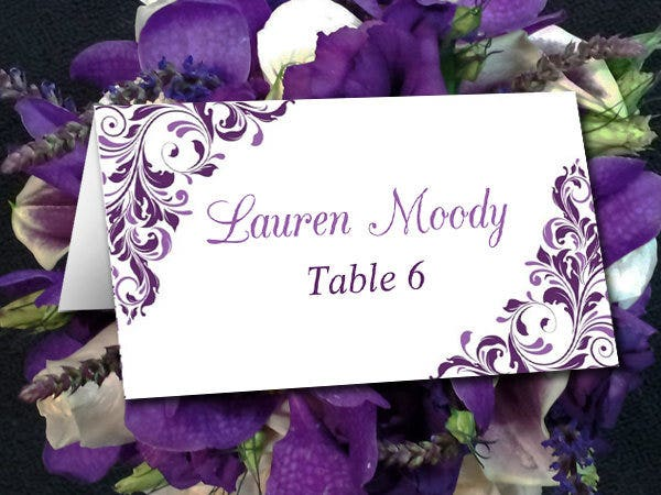 diy wedding place cards