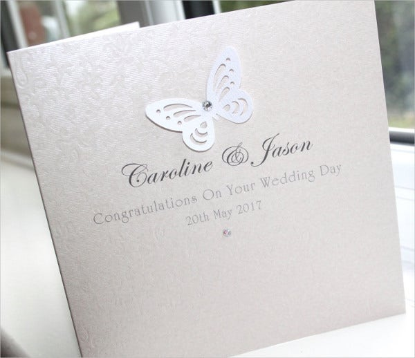 personalised handmade wedding cards