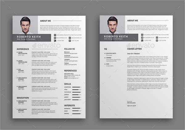 Modern Resume Templates   Free Psd WordPdf Document Download