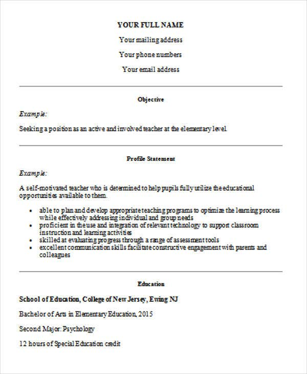 35 Printable Teacher Resume Templates Free Amp Premium