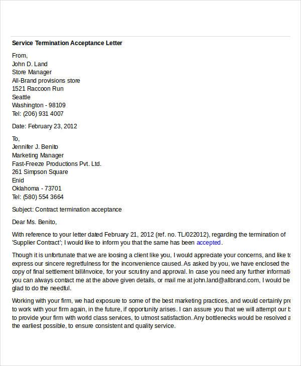 service termination acceptance letter1