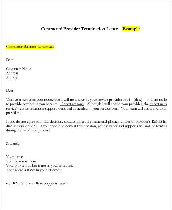 service provider termination letter2