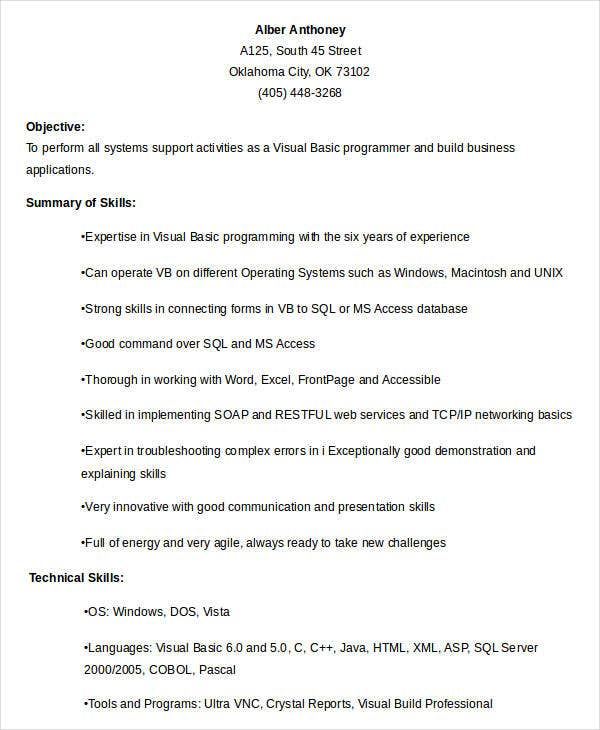 Enchanting Basic Sample Resume Examples Of Resumes Download