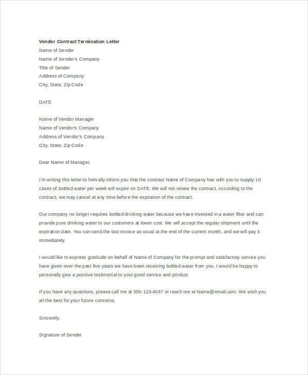 Free Termination Letter Templates
